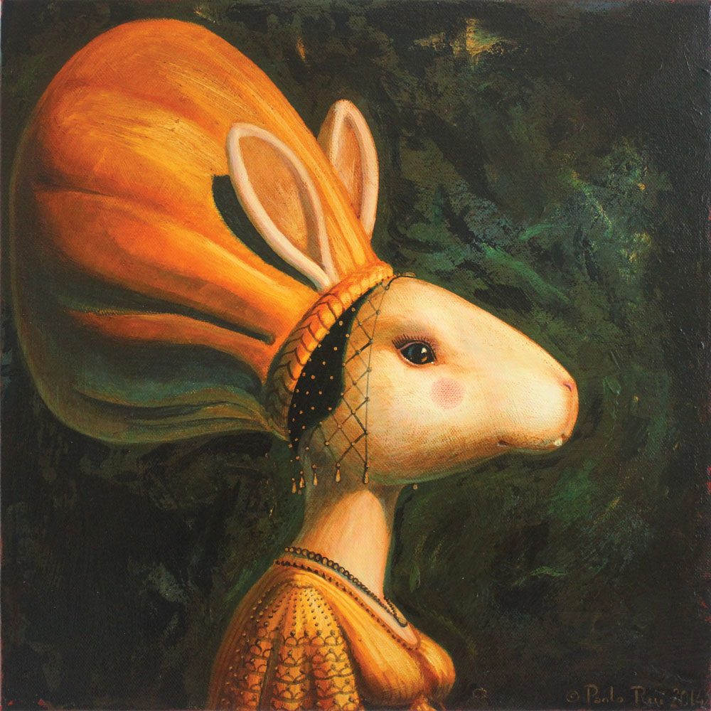 © Paolo Rui; painting; acrylic and oil on canvas; History of Milan; history; hare; rabbit